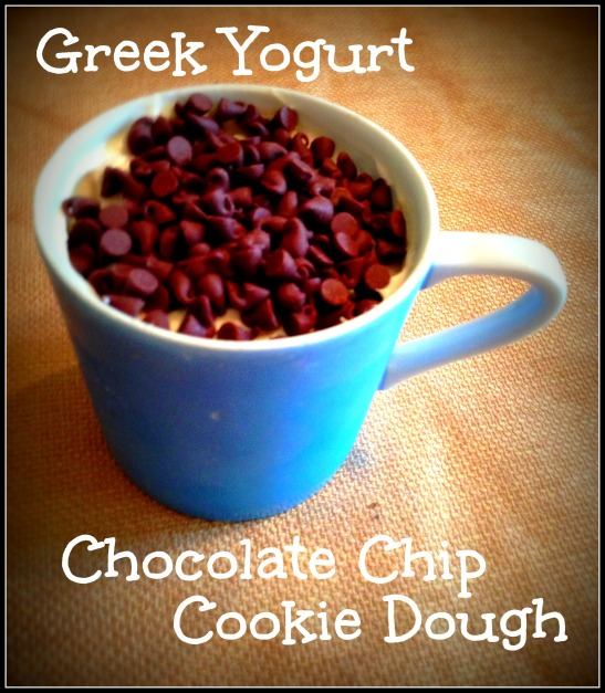 Healthy Greek Yogurt Chocolate Chip Cookie Dough